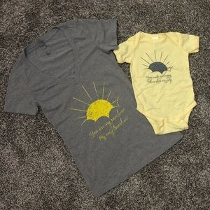 Mommy & Me matching sunshine tees